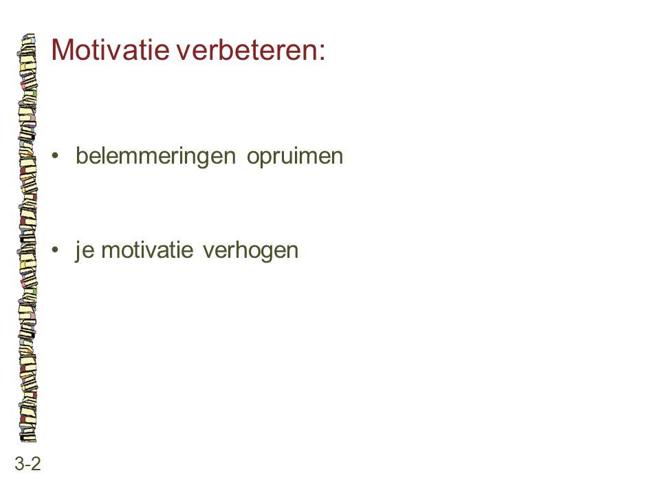 Motivatie verbeteren: 3-2 belemmeringen opruimen je motivatie verhogen