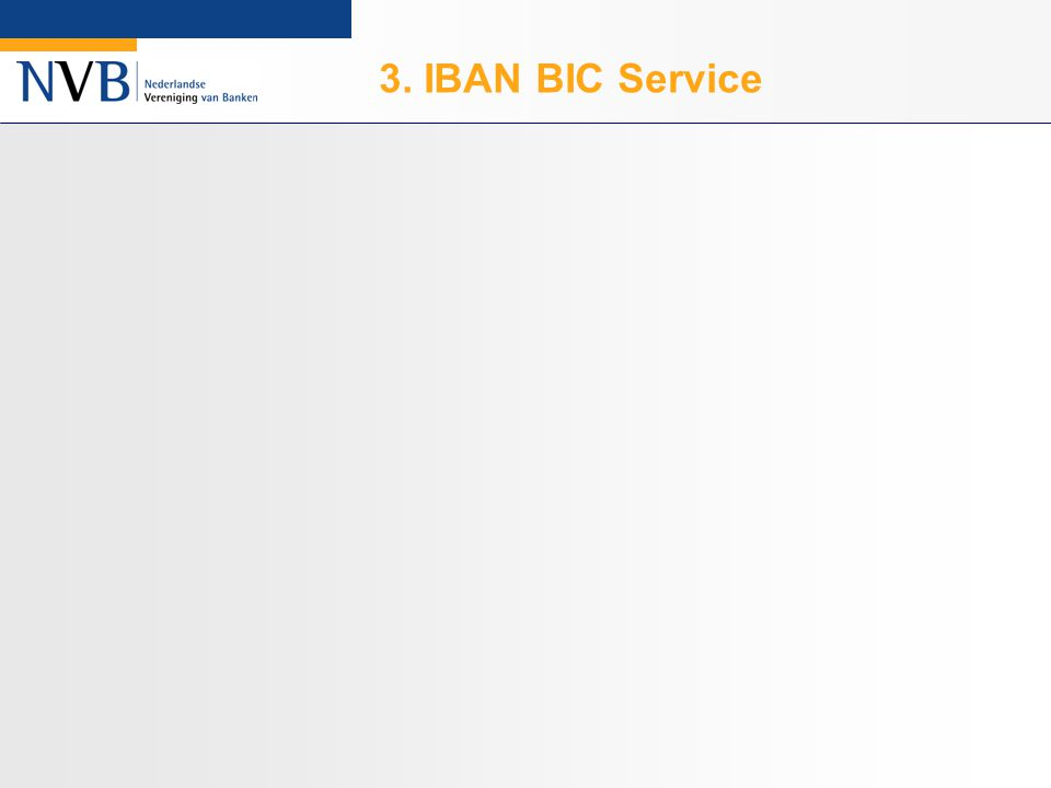 3. IBAN BIC Service