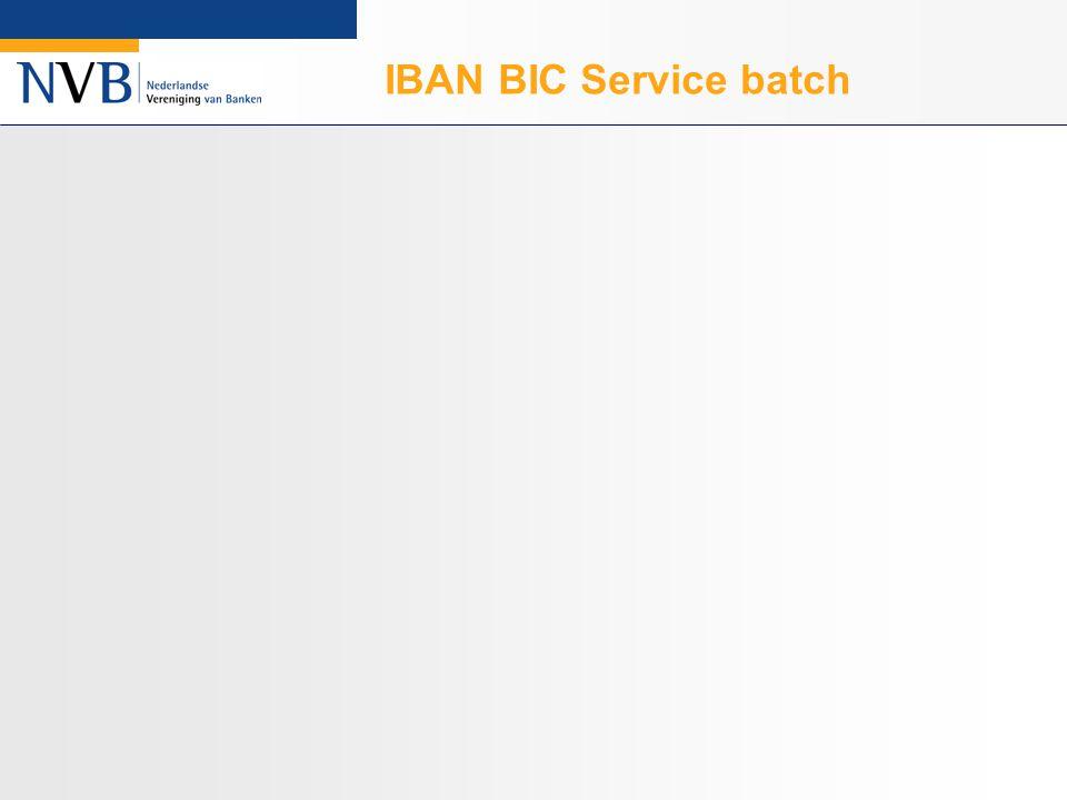 IBAN BIC Service batch