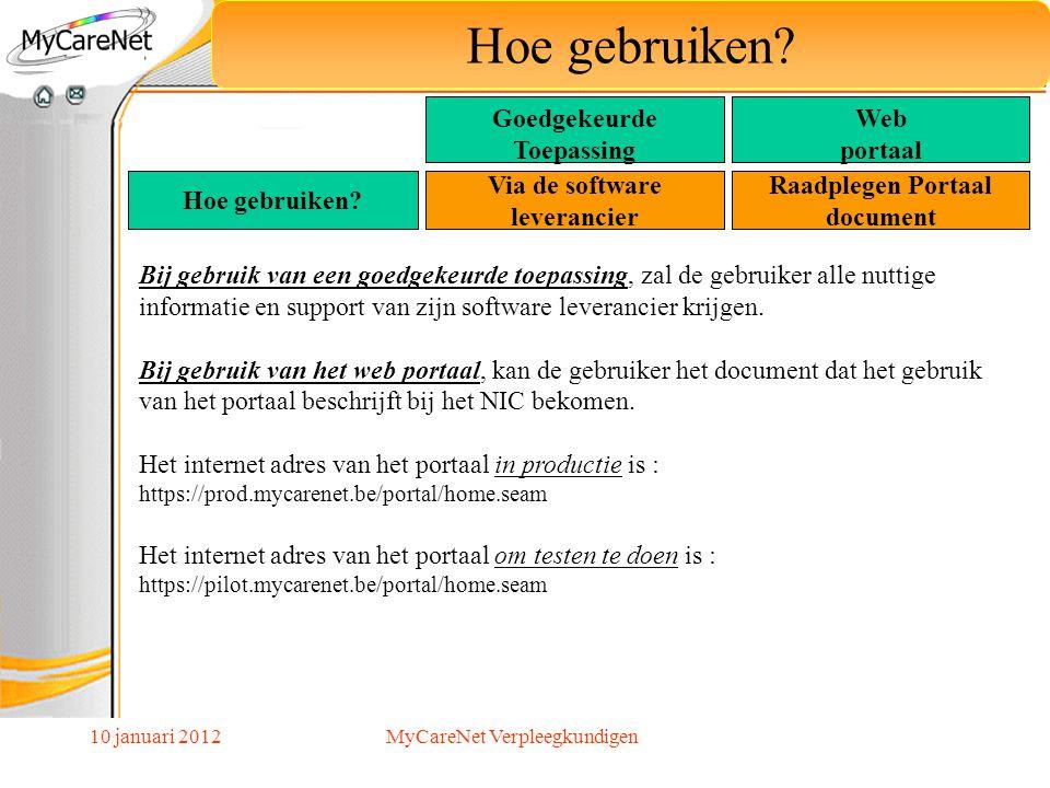 10 januari 2012 Hoe gebruiken? Bij gebruik van een goedgekeurde toepassing, zal de gebruiker alle nuttige informatie en support van zijn software leve
