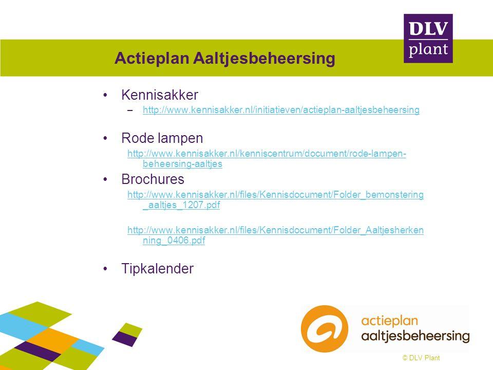 © DLV Plant Voorbeeld uitwerkingen Basis voor alles is Aaltjeswaardplantschema http://www.kennisakker.nl/kenniscentrum/document/aaltjeswaardplantschema Voorbeeld: –http://www.nemadecide.com/index.htmlhttp://www.nemadecide.com/index.html http://www.dobs.nl/AgrifirmAaltjesadvies/