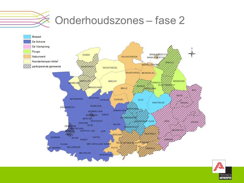 Onderhoudszones – fase 2