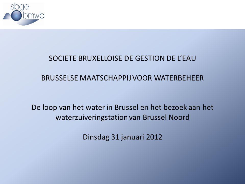 SOCIETE BRUXELLOISE DE GESTION DE L'EAU BRUSSELSE MAATSCHAPPIJ VOOR WATERBEHEER De loop van het water in Brussel en het bezoek aan het waterzuiverings