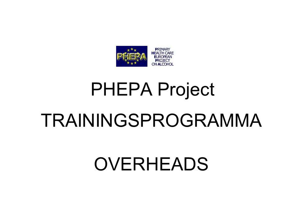 PHEPA Project 12 Standaardglas  Één standaardglas bevat gemiddeld ongeveer 10g alcohol.