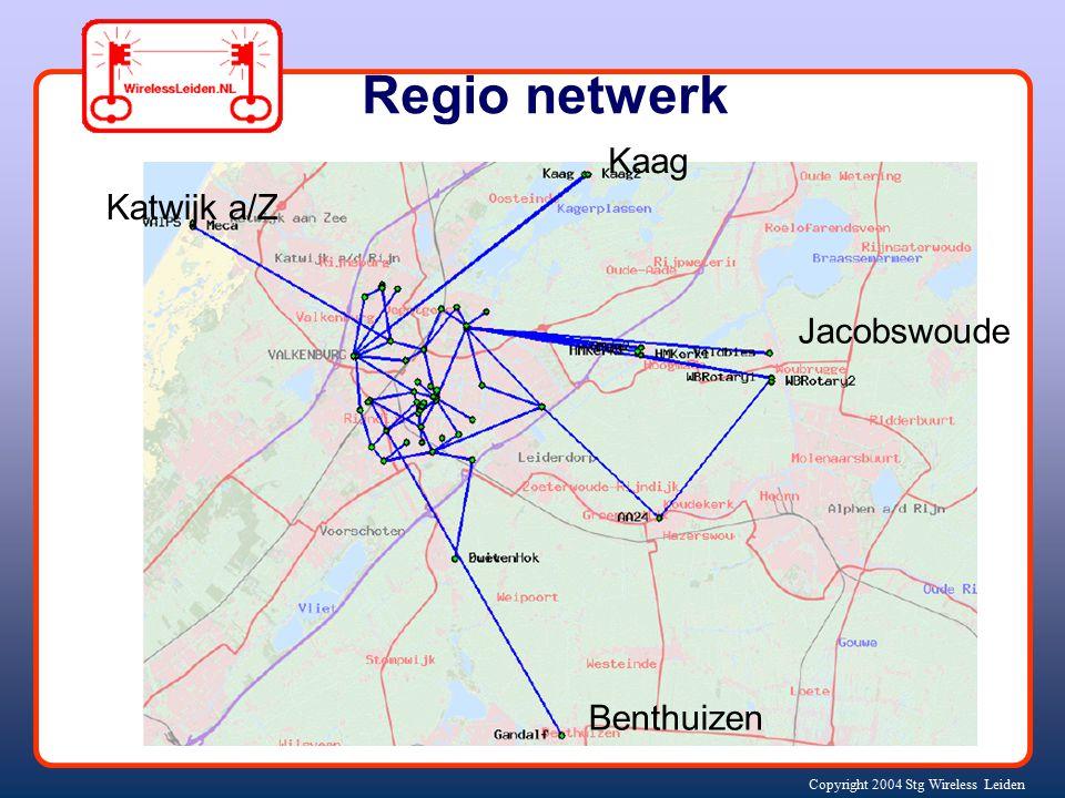 Copyright 2004 Stg Wireless Leiden Regio netwerk Katwijk a/Z Kaag Jacobswoude Benthuizen