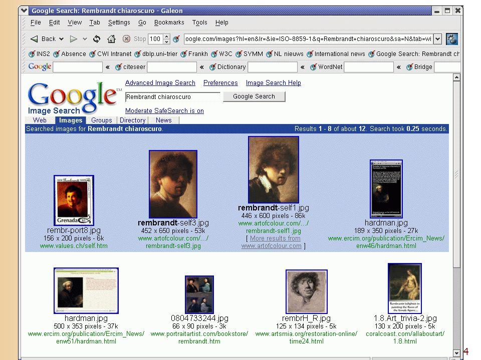 4 Presentation of Google results: image