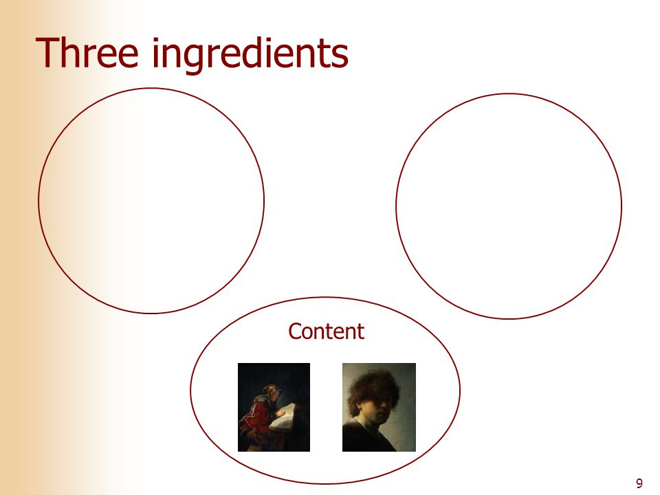 9 Three ingredients Content