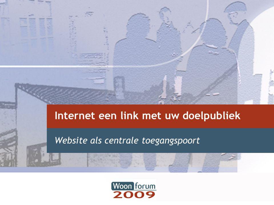 Internet een link met uw doelpubliek Website als centrale toegangspoort