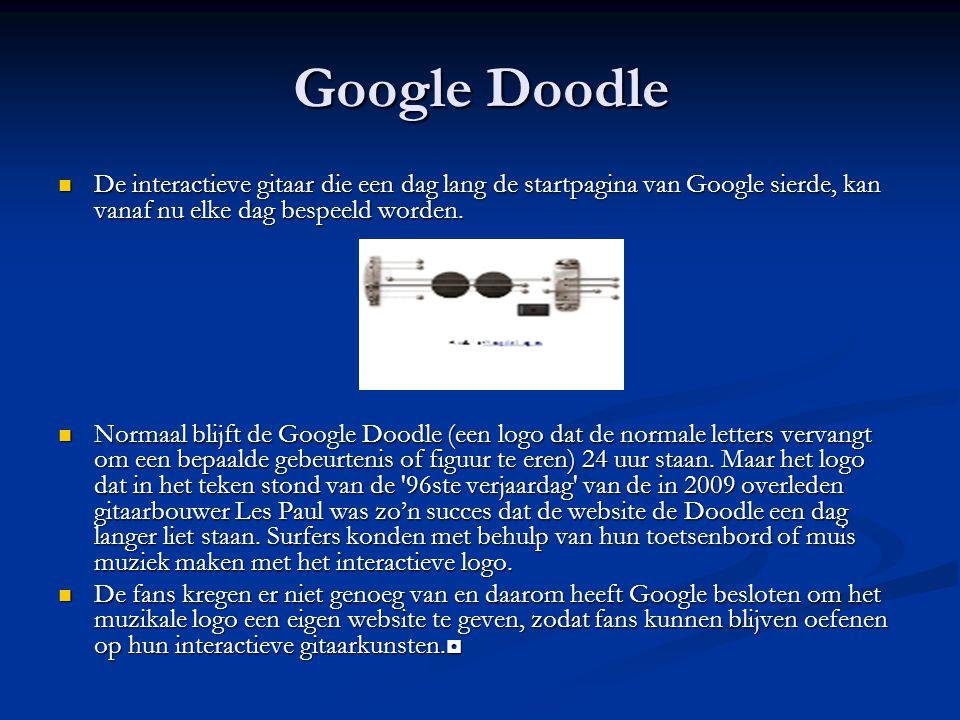 Google Doodle De interactieve gitaar die een dag lang de startpagina van Google sierde, kan vanaf nu elke dag bespeeld worden.
