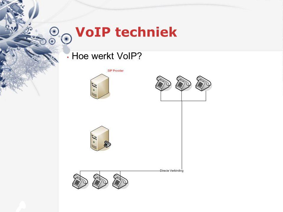 VoIP techniek Hoe werkt VoIP?