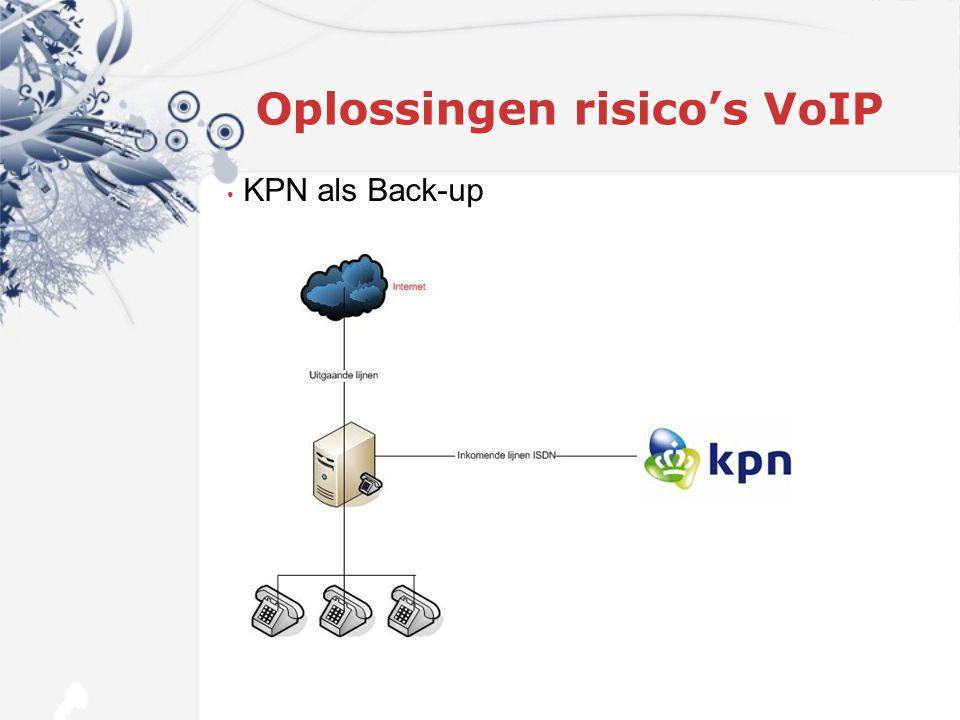 Oplossingen risico's VoIP KPN als Back-up
