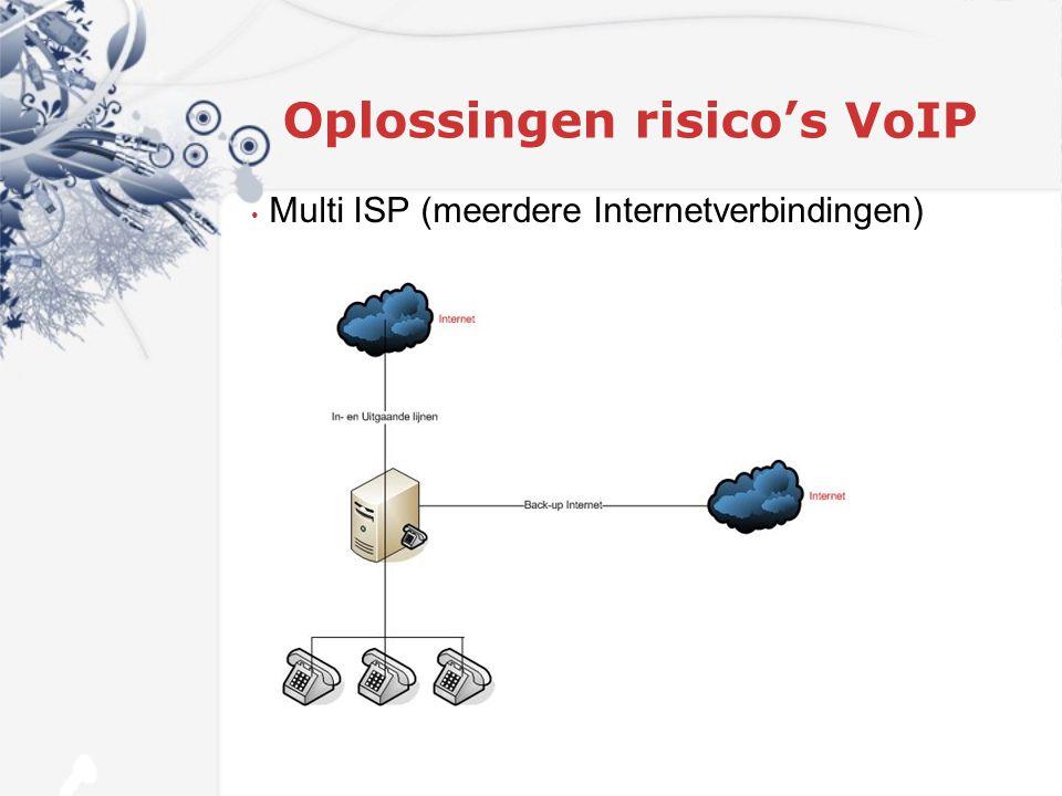 Oplossingen risico's VoIP Multi ISP (meerdere Internetverbindingen)