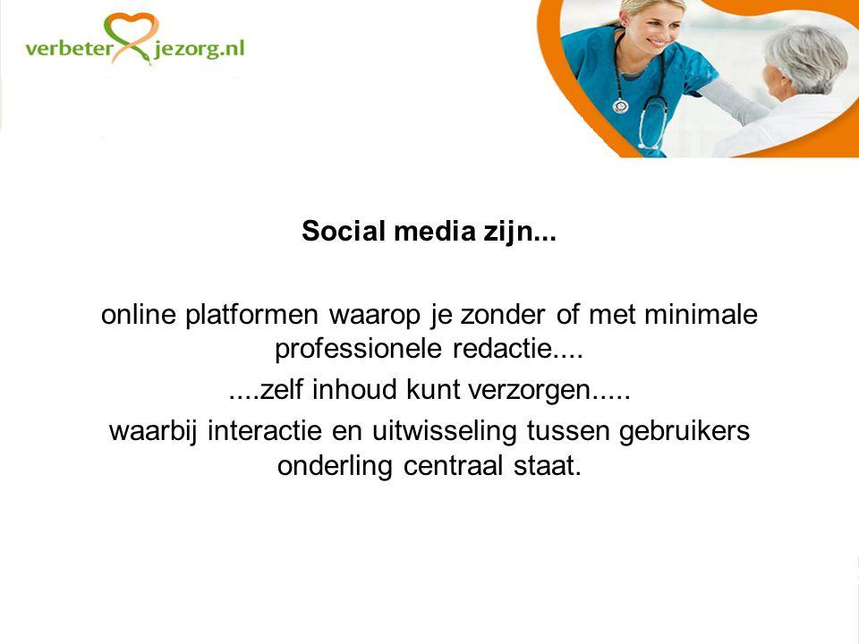 Social media zijn...