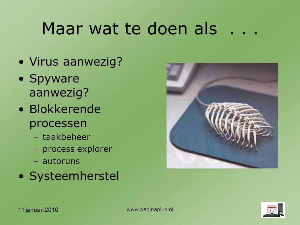 11 januari 2010 www.paginaplus.nl Maar wat te doen als...