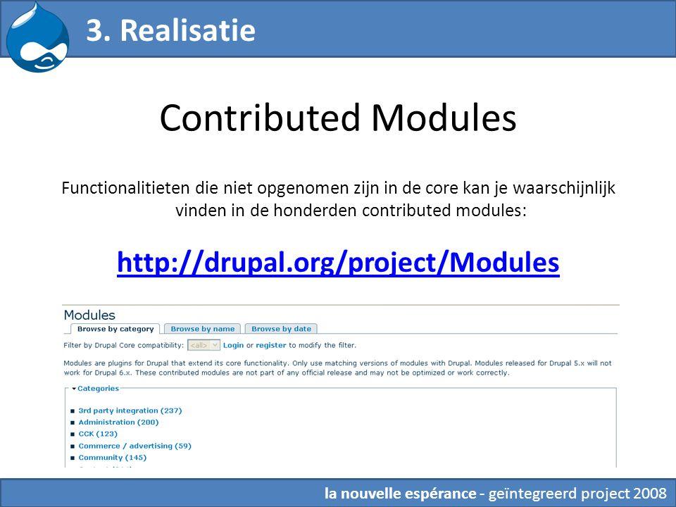 Contributed Modules Functionalitieten die niet opgenomen zijn in de core kan je waarschijnlijk vinden in de honderden contributed modules: http://drup