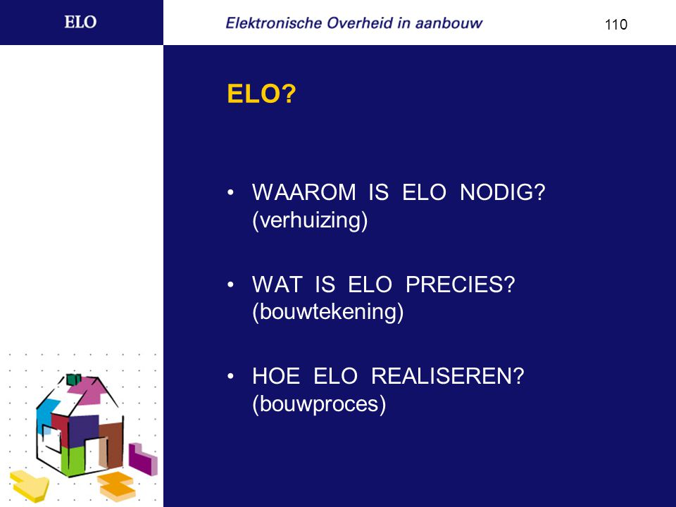 Waarom is ELO nodig.