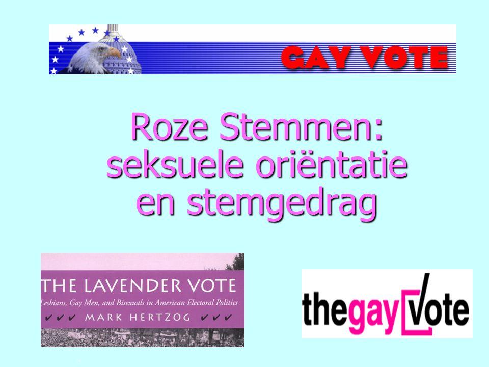 . Roze Stemmen: seksuele oriëntatie en stemgedrag