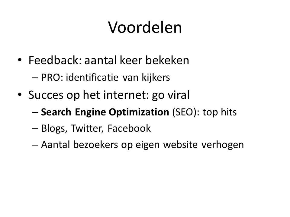 Voordelen Integratie in sociale media tools: holy triad