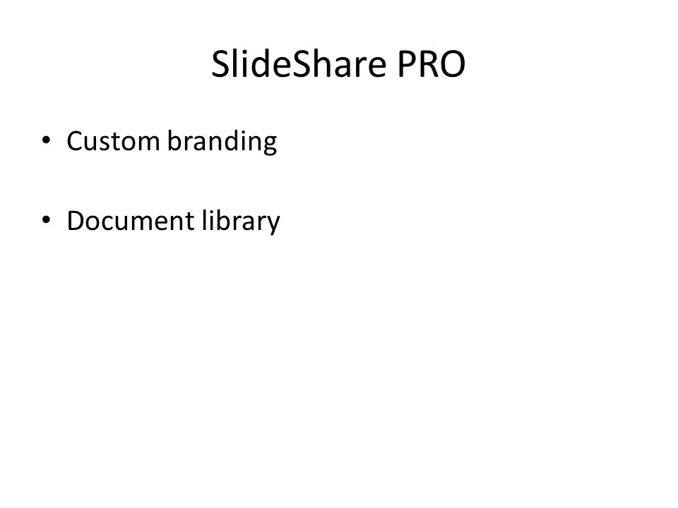 SlideShare PRO Custom branding Document library