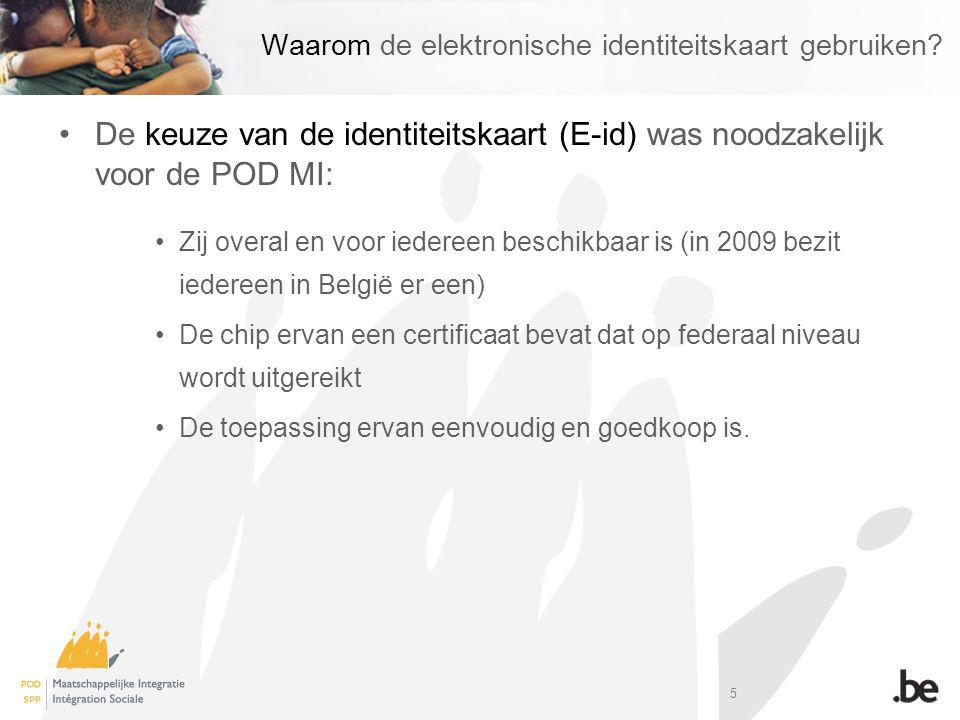5 Waarom de elektronische identiteitskaart gebruiken.