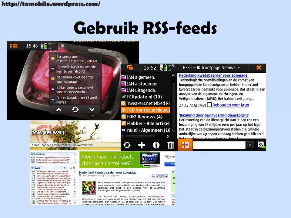 Gebruik RSS-feeds