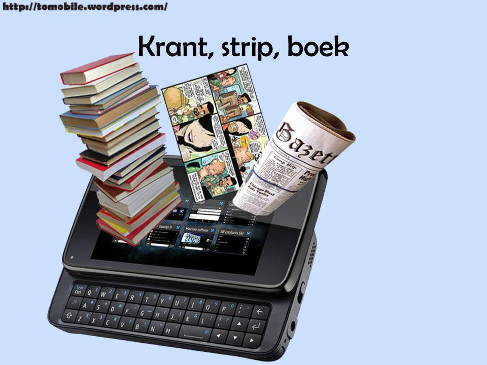 Krant, strip, boek