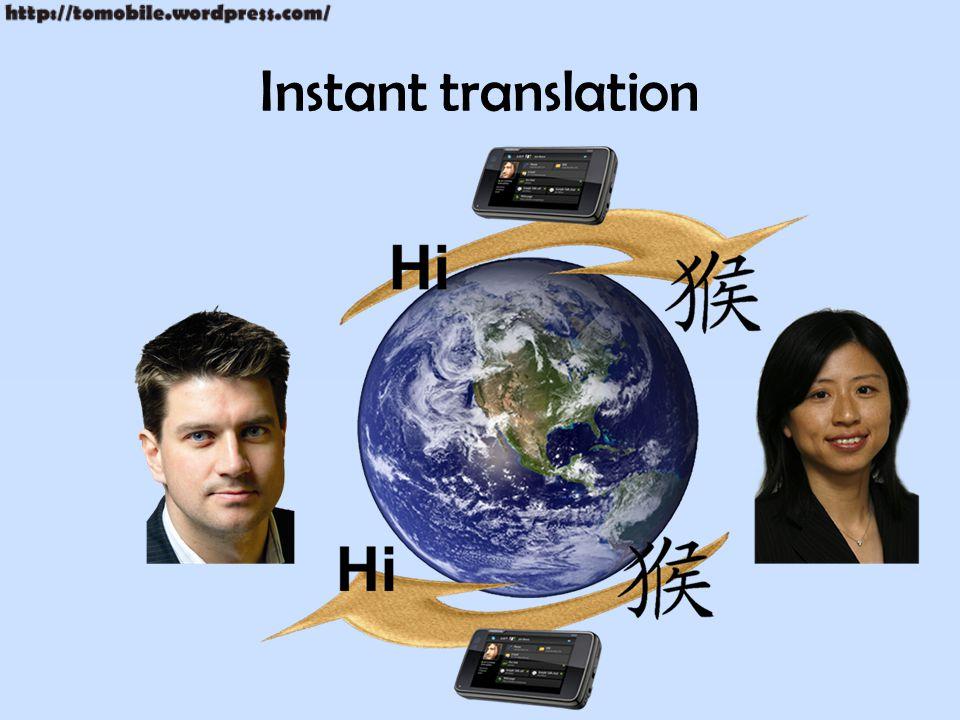 Instant translation