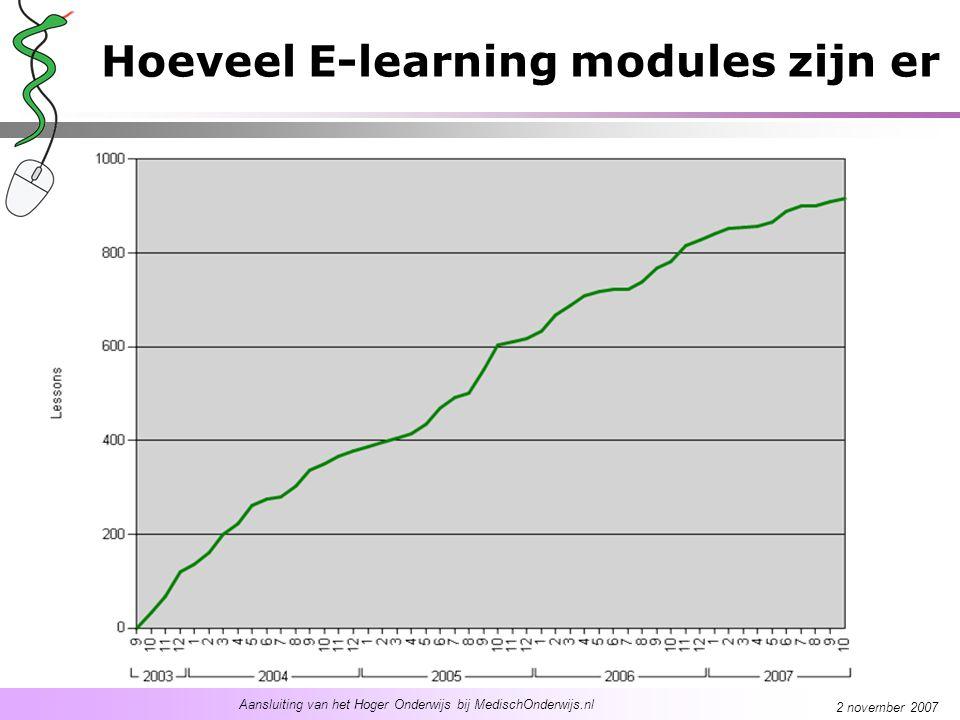 Aansluiting van het Hoger Onderwijs bij MedischOnderwijs.nl 2 november 2007 Voorbeelden inzet E-learning Blended learning Voorbereiding op vaardigheids onderwijs Toetsing –Ingangstoets –Zelftoets –Eindtoets Vervanging –De beste docent 'ingeblikt' –Verhoging efficientie