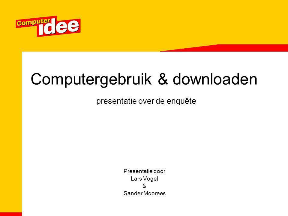 Computergebruik & downloaden presentatie over de enquête Presentatie door Lars Vogel & Sander Moorees