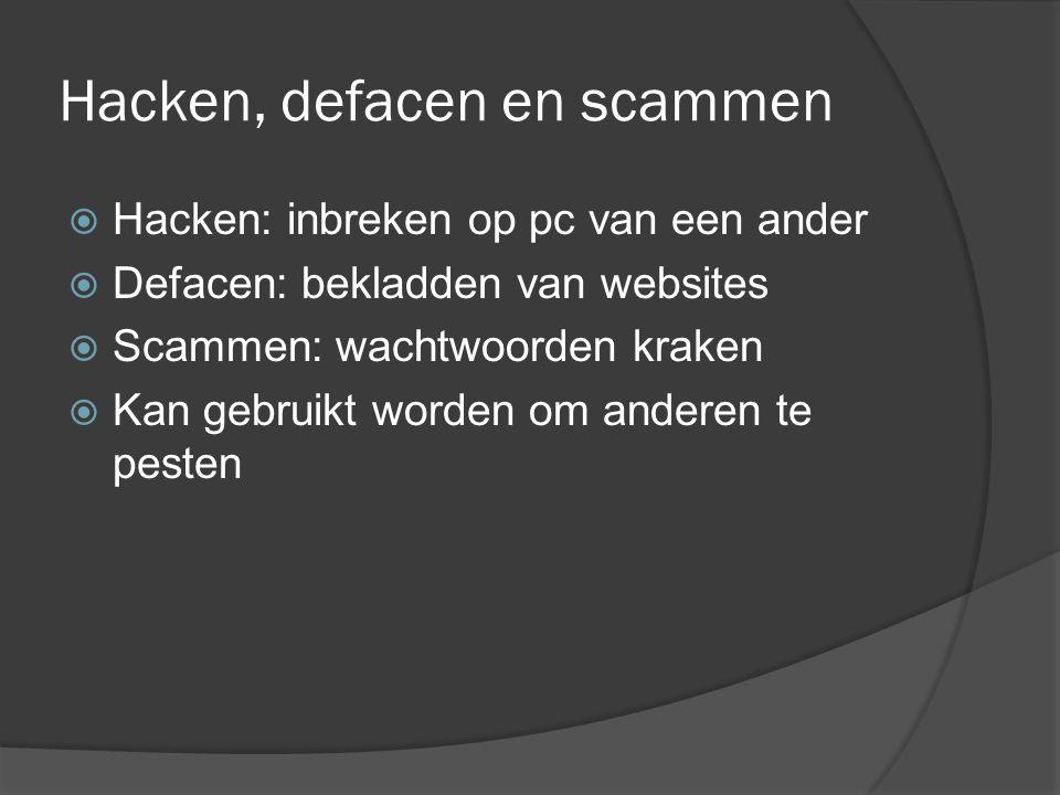 Illegaal kopiëren via internet  Voornamelijk voor muziek  Downloaden van muziek is strafbaar