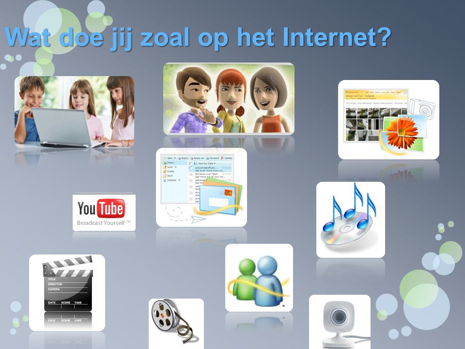 Wat doe jij zoal op het Internet?