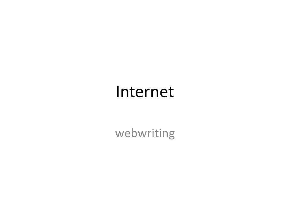 Internet webwriting