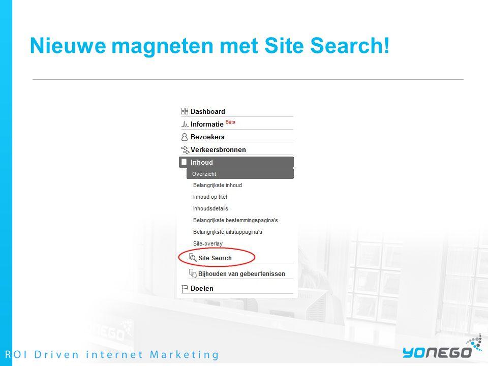 Nieuwe magneten met Site Search!