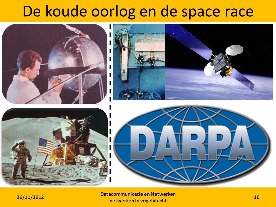 26/11/2012 Datacommunicatie en Netwerken netwerken in vogelvlucht 10 De koude oorlog en de space race