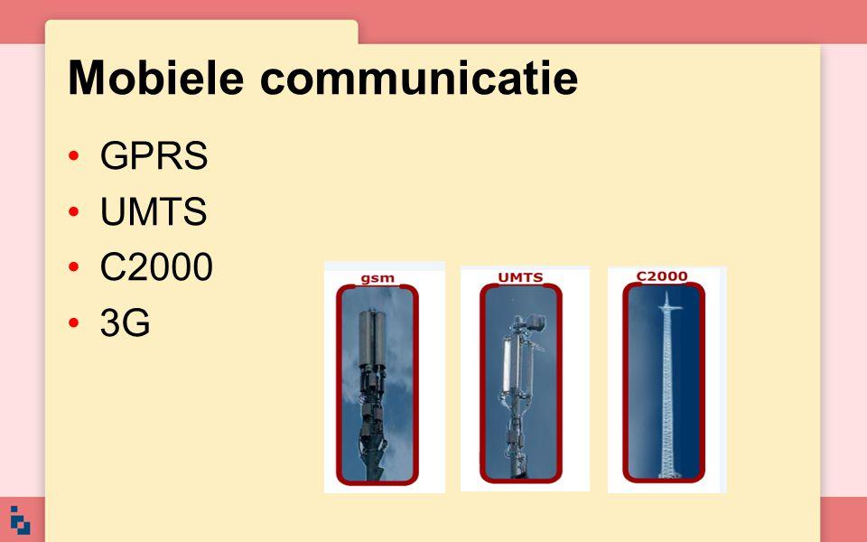 Mobiele communicatie GPRS UMTS C2000 3G
