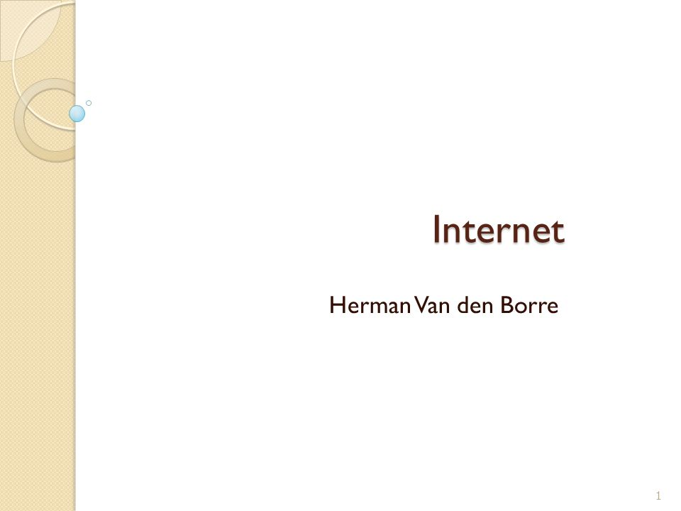 Internet Herman Van den Borre 1