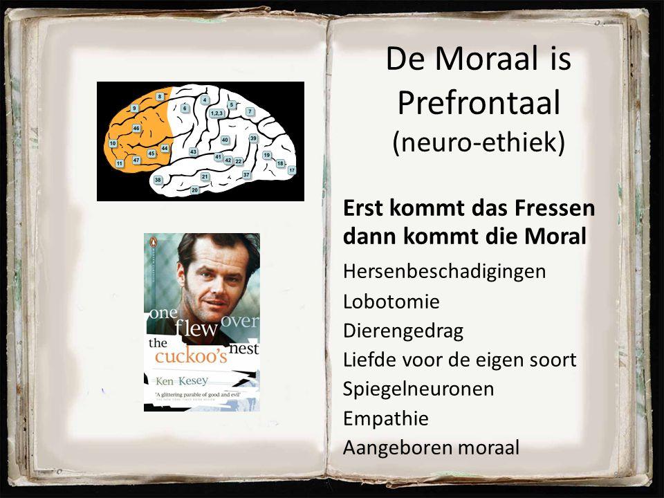 De Moraal is Prefrontaal (neuro-ethiek) Erst kommt das Fressen dann kommt die Moral Hersenbeschadigingen Lobotomie Dierengedrag Liefde voor de eigen s