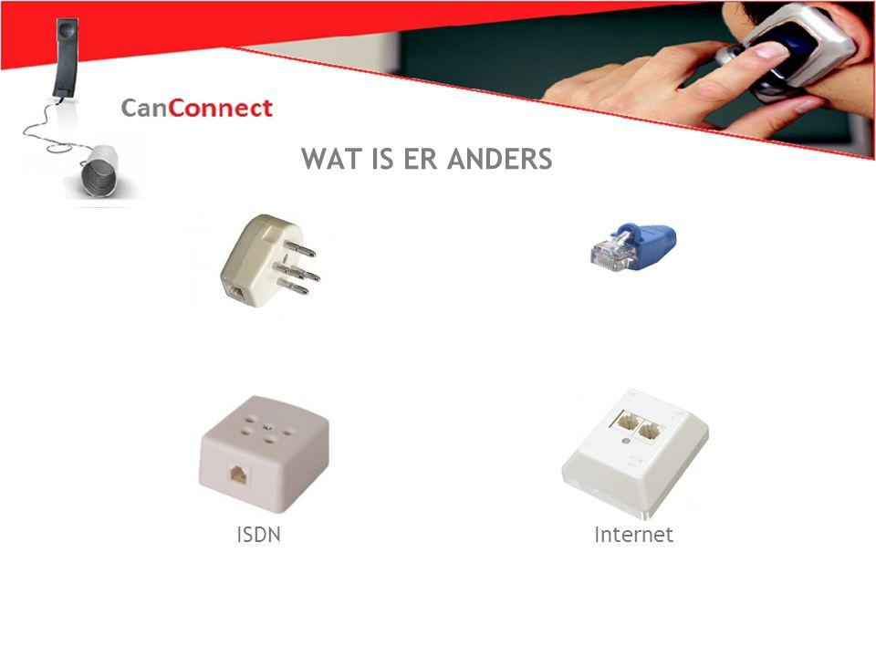 Zo wil iederéén bellen 10 WAT IS ER ANDERS ISDN Internet WAT IS ER ANDERS