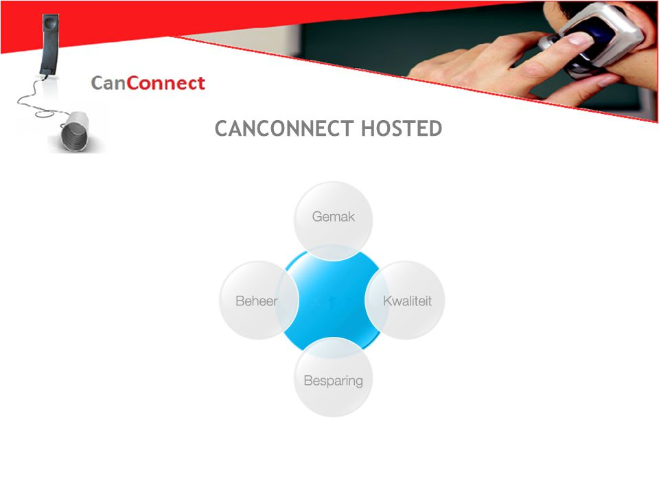 Zo wil iederéén bellen 2 XELION HOSTED CANCONNECT HOSTED