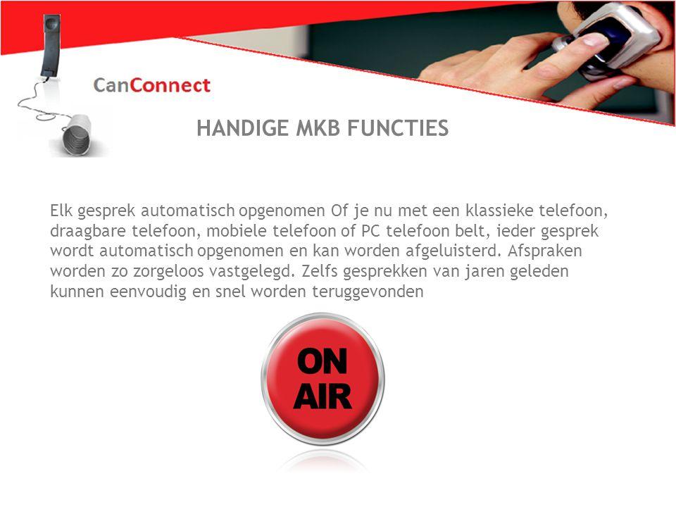 Zo wil iederéén bellen 5 Handel gesprekken passend af Standaard wordt CanConnect geleverd met een PC telefoon die ook als een console of systeemtoestel werkt.