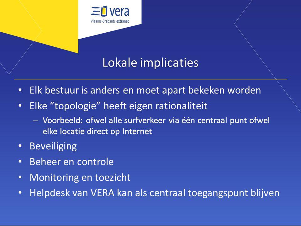"""Lokale implicaties Elk bestuur is anders en moet apart bekeken worden Elke """"topologie"""" heeft eigen rationaliteit – Voorbeeld: ofwel alle surfverkeer v"""