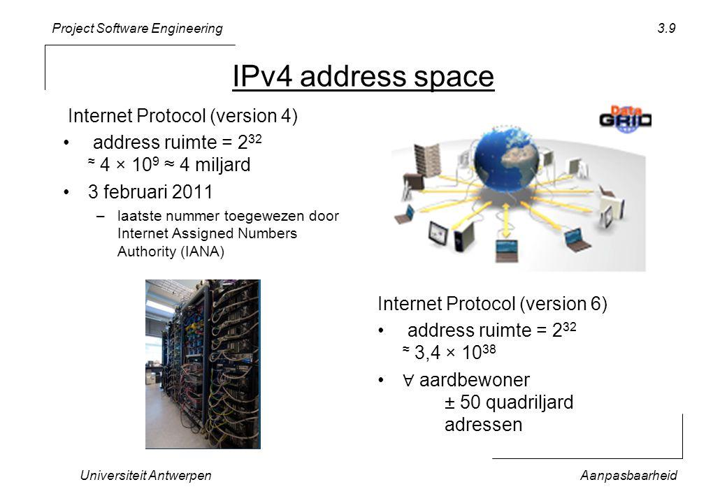 Project Software Engineering Universiteit AntwerpenAanpasbaarheid 3.20 Koppeling vs.