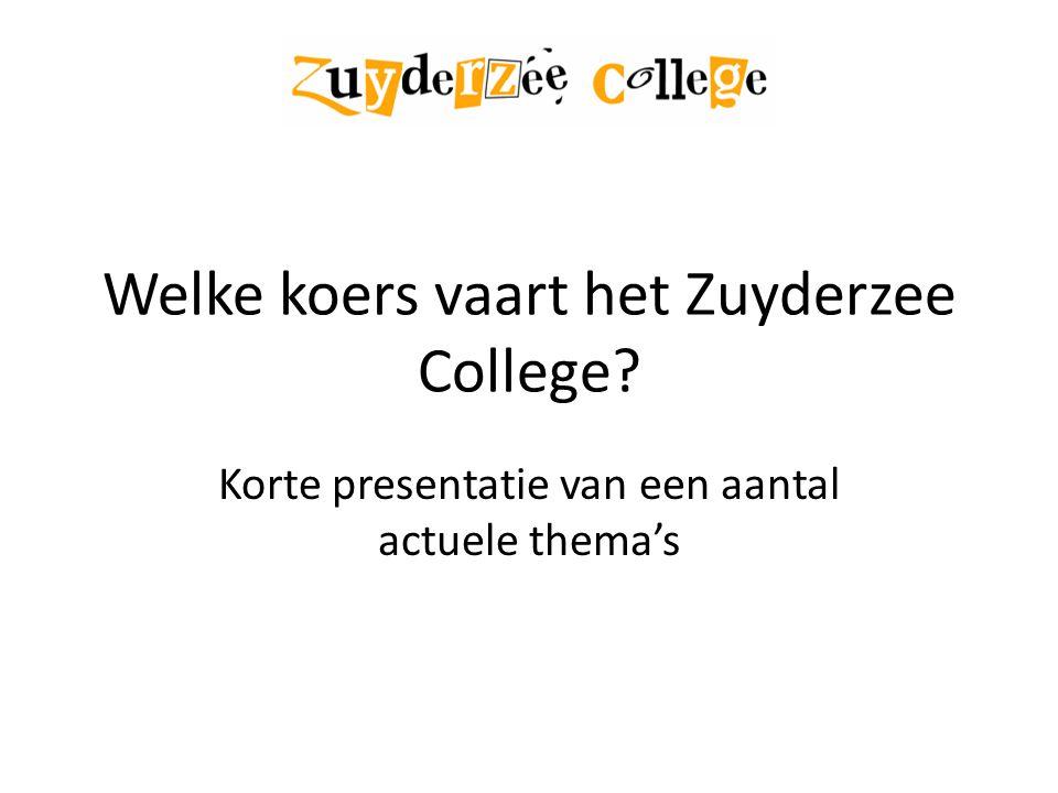 Welke koers vaart het Zuyderzee College? Korte presentatie van een aantal actuele thema's