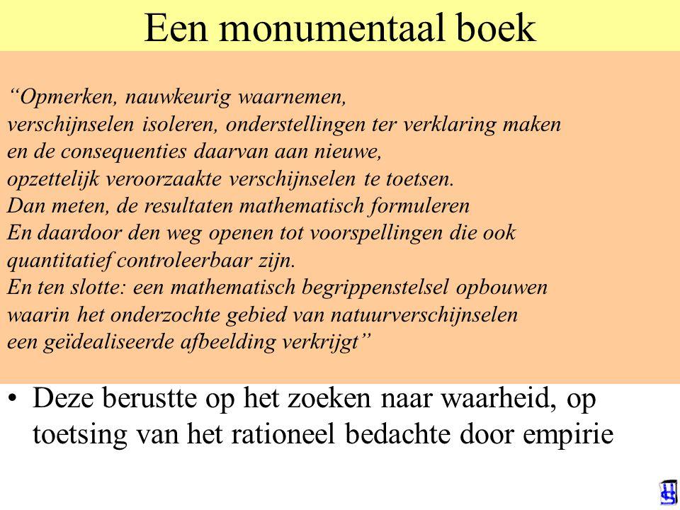 Een monumentaal boek In 1950 publiceerde de wiskundige Dijksterhuis zijn boek: De mechanisering van het wereldbeeld Het was al redelijk snel een groot