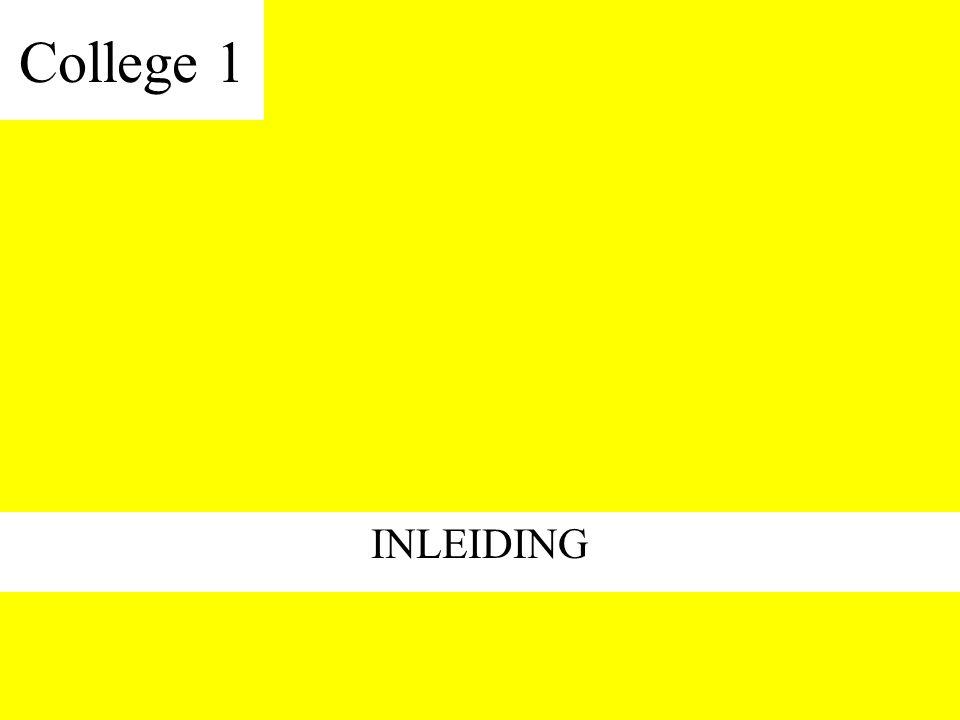 College 1 INLEIDING