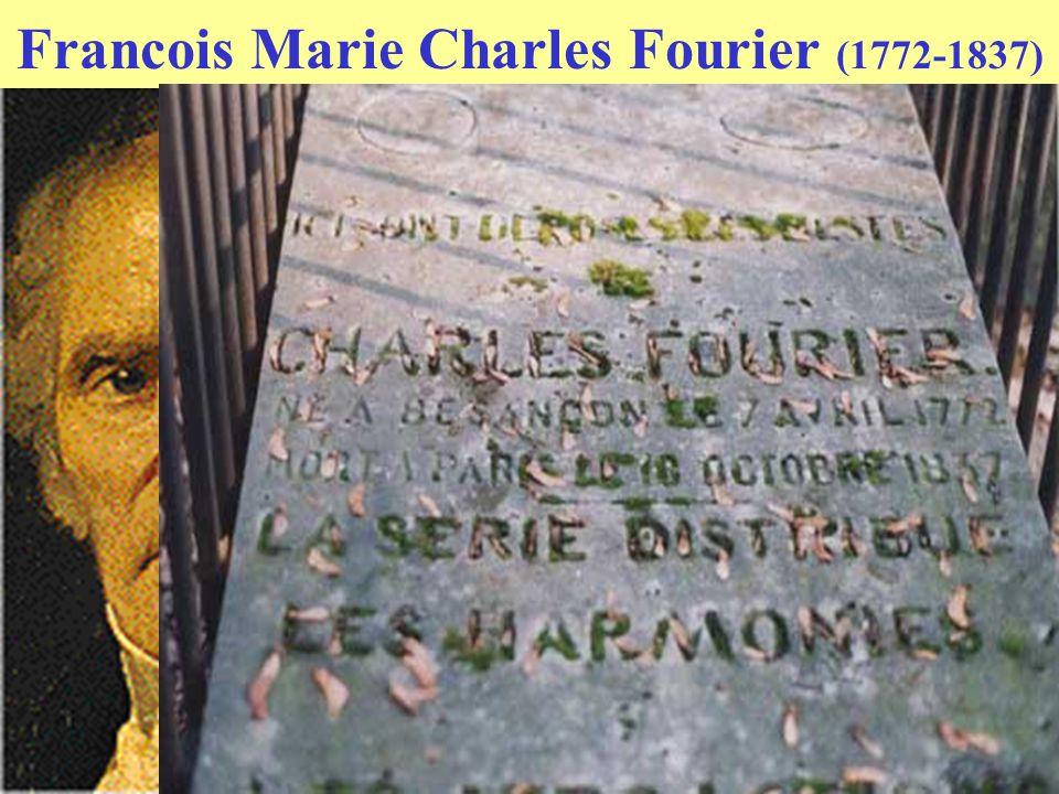 Francois Marie Charles Fourier (1772-1837) Basis idee : attractie tussen mensen (Newton attractie tussen hemellichamen) Daarom Phalansteres: 2 x 810 m