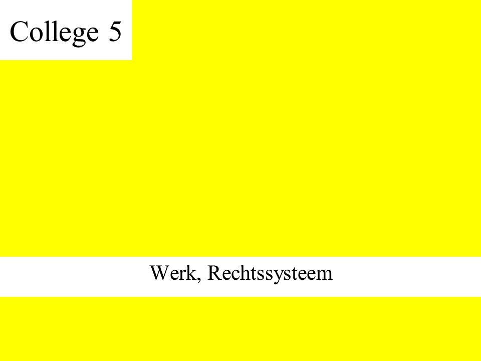 College 5 Werk, Rechtssysteem