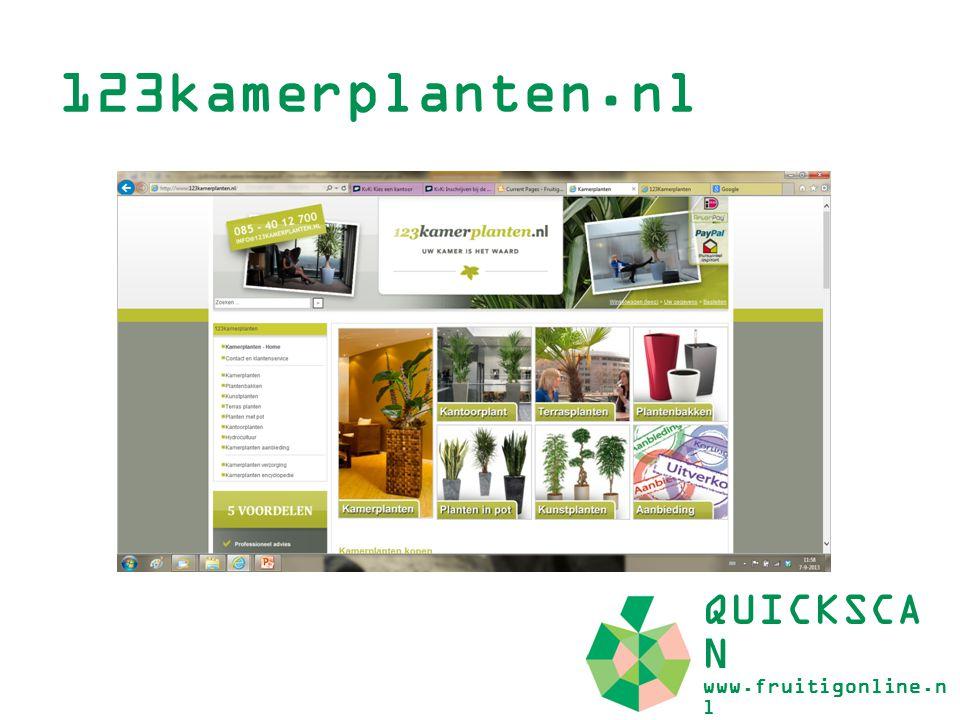 Doelgroep (1) QUICKSCA N www.fruitigonline.n l U product is geschikt voor de zakelijke klant als de consument.