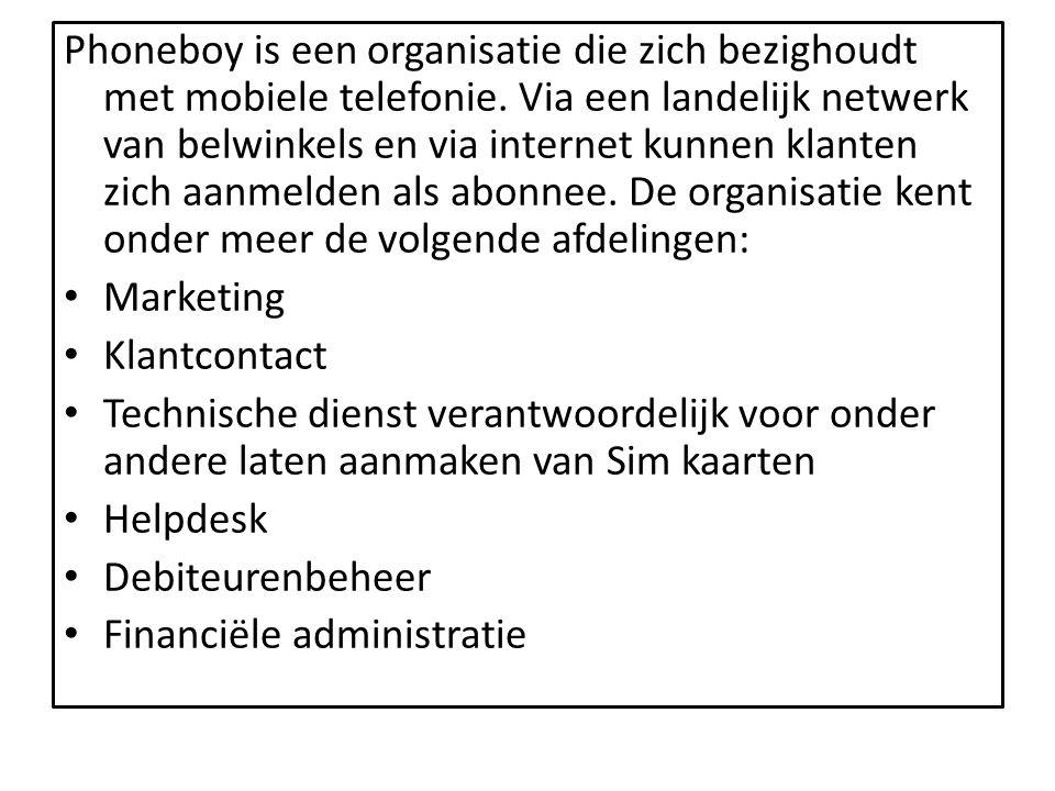 Phoneboy is een organisatie die zich bezighoudt met mobiele telefonie. Via een landelijk netwerk van belwinkels en via internet kunnen klanten zich aa