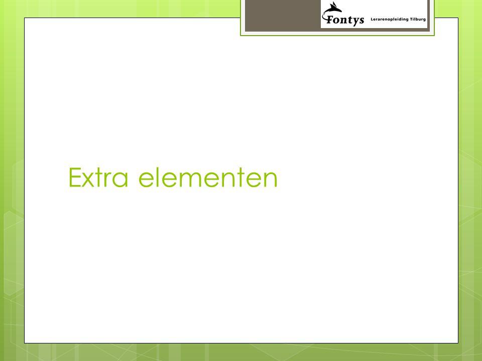 Extra elementen